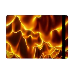 Sea Fire Orange Yellow Gold Wave Waves Apple Ipad Mini Flip Case by Alisyart