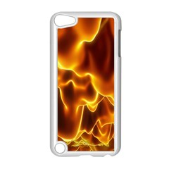 Sea Fire Orange Yellow Gold Wave Waves Apple Ipod Touch 5 Case (white) by Alisyart