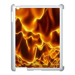 Sea Fire Orange Yellow Gold Wave Waves Apple Ipad 3/4 Case (white) by Alisyart