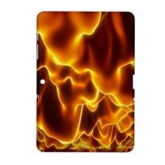 Sea Fire Orange Yellow Gold Wave Waves Samsung Galaxy Tab 2 (10 1 ) P5100 Hardshell Case  by Alisyart