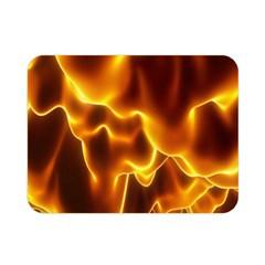 Sea Fire Orange Yellow Gold Wave Waves Double Sided Flano Blanket (mini)  by Alisyart