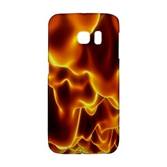 Sea Fire Orange Yellow Gold Wave Waves Galaxy S6 Edge by Alisyart