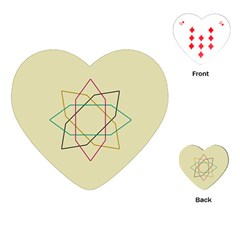 Shape Experimen Geometric Star Sign Playing Cards (heart)  by Alisyart