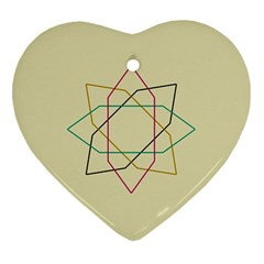 Shape Experimen Geometric Star Sign Heart Ornament (two Sides) by Alisyart