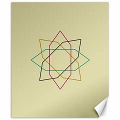 Shape Experimen Geometric Star Sign Canvas 8  X 10  by Alisyart
