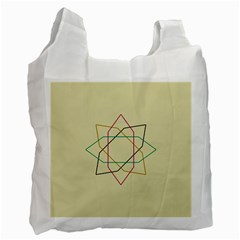 Shape Experimen Geometric Star Sign Recycle Bag (two Side)  by Alisyart