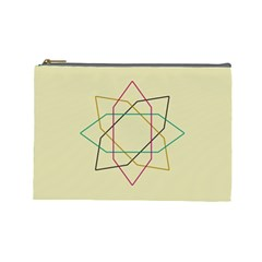 Shape Experimen Geometric Star Sign Cosmetic Bag (large)  by Alisyart