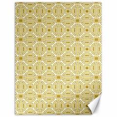 Gold Geometric Plaid Circle Canvas 18  X 24   by Alisyart