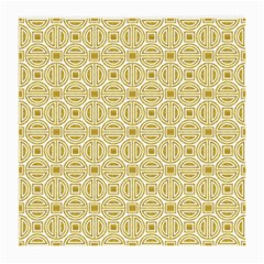 Gold Geometric Plaid Circle Medium Glasses Cloth (2 Side) by Alisyart