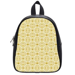 Gold Geometric Plaid Circle School Bags (small)  by Alisyart