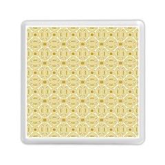 Gold Geometric Plaid Circle Memory Card Reader (square)  by Alisyart