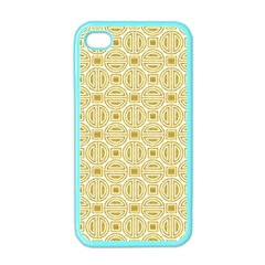 Gold Geometric Plaid Circle Apple Iphone 4 Case (color) by Alisyart