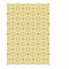 Gold Geometric Plaid Circle Large Garden Flag (two Sides) by Alisyart