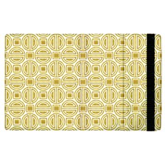 Gold Geometric Plaid Circle Apple Ipad 3/4 Flip Case by Alisyart