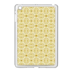 Gold Geometric Plaid Circle Apple Ipad Mini Case (white) by Alisyart