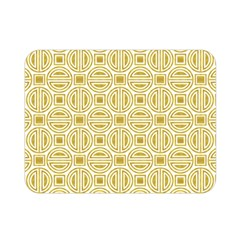 Gold Geometric Plaid Circle Double Sided Flano Blanket (mini)  by Alisyart