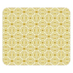 Gold Geometric Plaid Circle Double Sided Flano Blanket (small)  by Alisyart