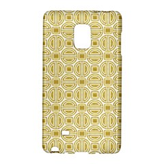Gold Geometric Plaid Circle Galaxy Note Edge by Alisyart