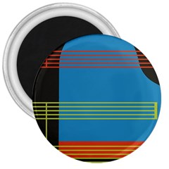 Sketches Tone Red Yellow Blue Black Musical Scale 3  Magnets by Alisyart
