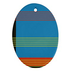 Sketches Tone Red Yellow Blue Black Musical Scale Oval Ornament (two Sides) by Alisyart