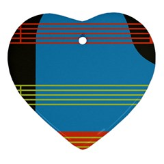 Sketches Tone Red Yellow Blue Black Musical Scale Heart Ornament (two Sides) by Alisyart