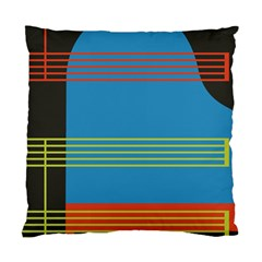 Sketches Tone Red Yellow Blue Black Musical Scale Standard Cushion Case (two Sides) by Alisyart