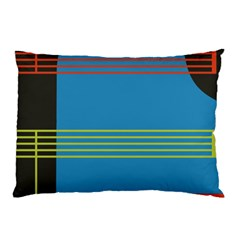 Sketches Tone Red Yellow Blue Black Musical Scale Pillow Case by Alisyart