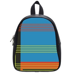 Sketches Tone Red Yellow Blue Black Musical Scale School Bags (small)  by Alisyart