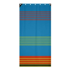 Sketches Tone Red Yellow Blue Black Musical Scale Shower Curtain 36  X 72  (stall)  by Alisyart