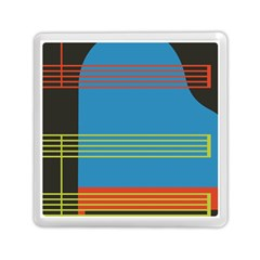 Sketches Tone Red Yellow Blue Black Musical Scale Memory Card Reader (square)  by Alisyart