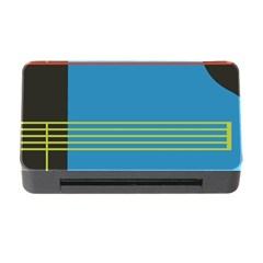 Sketches Tone Red Yellow Blue Black Musical Scale Memory Card Reader With Cf by Alisyart