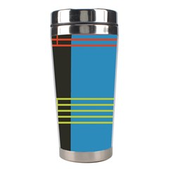 Sketches Tone Red Yellow Blue Black Musical Scale Stainless Steel Travel Tumblers by Alisyart