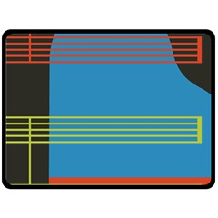 Sketches Tone Red Yellow Blue Black Musical Scale Double Sided Fleece Blanket (large)  by Alisyart
