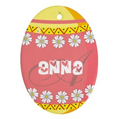 Easter Egg Hunter Oval Ornament by strawberrymilkstore8