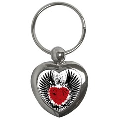 Wings Of Heart Illustration Key Chains (heart)  by TastefulDesigns