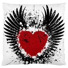 Wings Of Heart Illustration Standard Flano Cushion Case (one Side) by TastefulDesigns