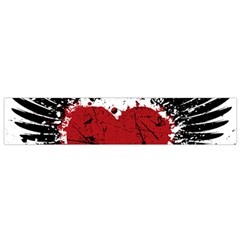 Wings Of Heart Illustration Flano Scarf (small)  by TastefulDesigns