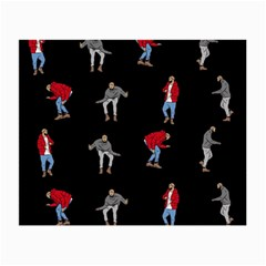 Drake Hotline Bling Black Background Small Glasses Cloth (2 Side) by Onesevenart