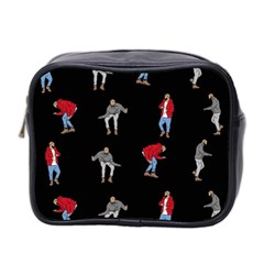 Drake Hotline Bling Black Background Mini Toiletries Bag 2 Side by Onesevenart
