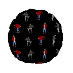 Drake Hotline Bling Black Background Standard 15  Premium Flano Round Cushions by Onesevenart