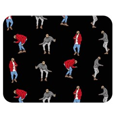 Drake Hotline Bling Black Background Double Sided Flano Blanket (medium)  by Onesevenart