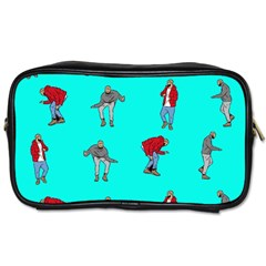 Hotline Bling Blue Background Toiletries Bags 2 Side by Onesevenart