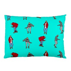 Hotline Bling Blue Background Pillow Case (two Sides) by Onesevenart