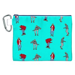 Hotline Bling Blue Background Canvas Cosmetic Bag (xxl) by Onesevenart