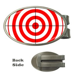 Sniper Focus Target Round Red Money Clips (oval)  by Alisyart