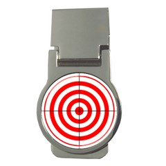 Sniper Focus Target Round Red Money Clips (round)  by Alisyart