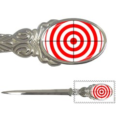 Sniper Focus Target Round Red Letter Openers by Alisyart