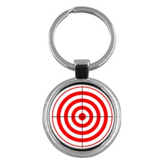 Sniper Focus Target Round Red Key Chains (round)  by Alisyart