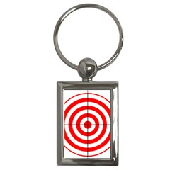 Sniper Focus Target Round Red Key Chains (rectangle)  by Alisyart