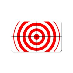 Sniper Focus Target Round Red Magnet (name Card) by Alisyart